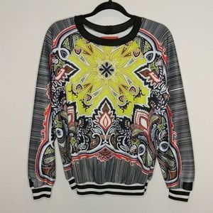 Clover  Canyon Black and White graphic sweatshirt
